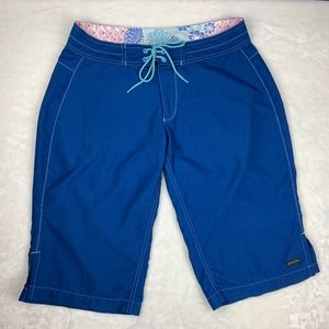 Athleta Bermuda Board Surf Shorts Blue Size 6